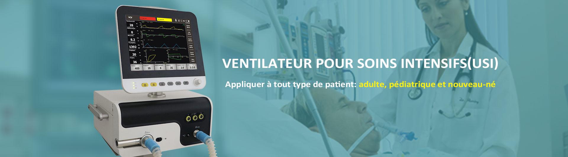 Ventilateur pour soins intensifs (USI)